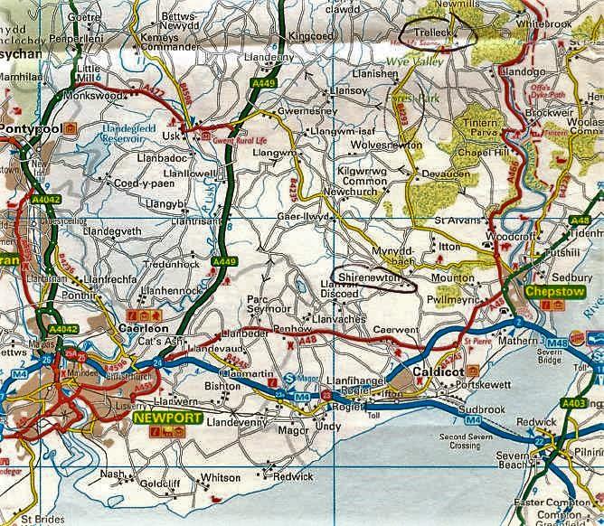 Roadmap of Southwest Wales